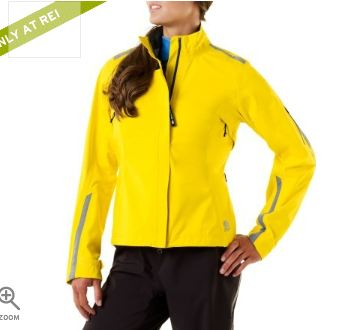 much better-looking bright yellow cycling jacked from REI