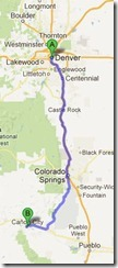 Denver to Canon City