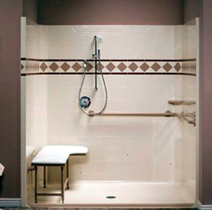 Image: Roll-in shower.