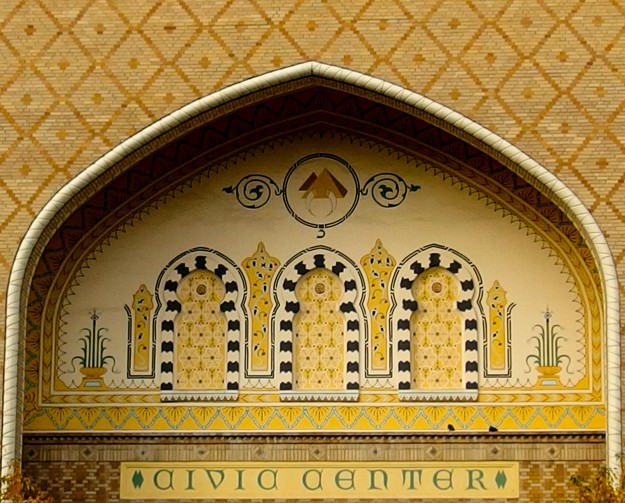 Photo of moorish style design in an arch at the Civic Center.