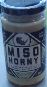 "Image: Jar with label ""Miso Horny."""