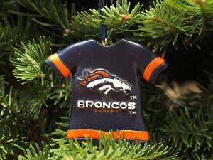 Image:  Denver Broncos jersey ornament