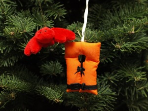 Image:  Lobster and life jacket ornaments